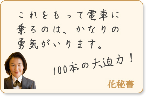 バラの花束 100本